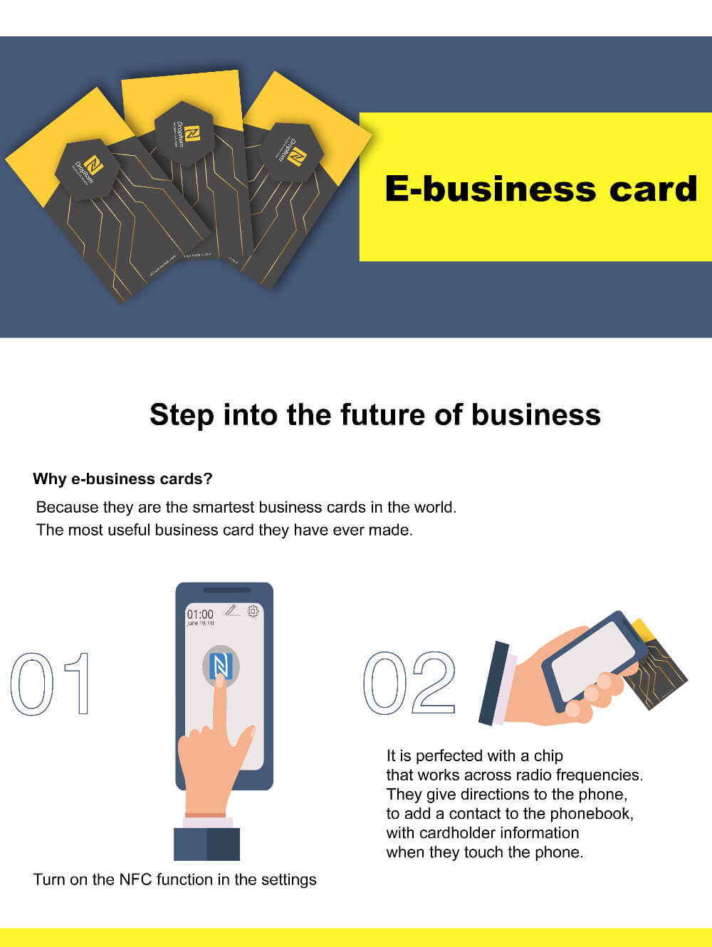 e business card